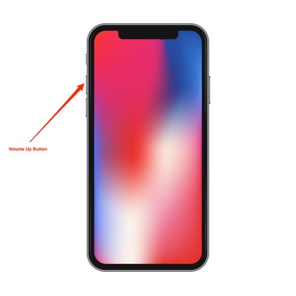 hard reboot the iphone x - Step 1