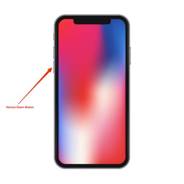 hard reboot the iphone x - step 2