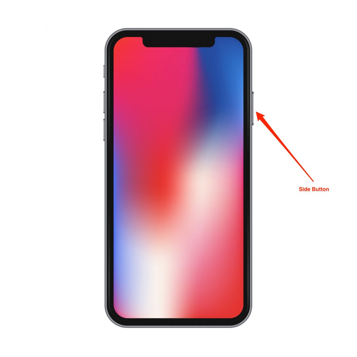 hard reboot the iphone x - step 3