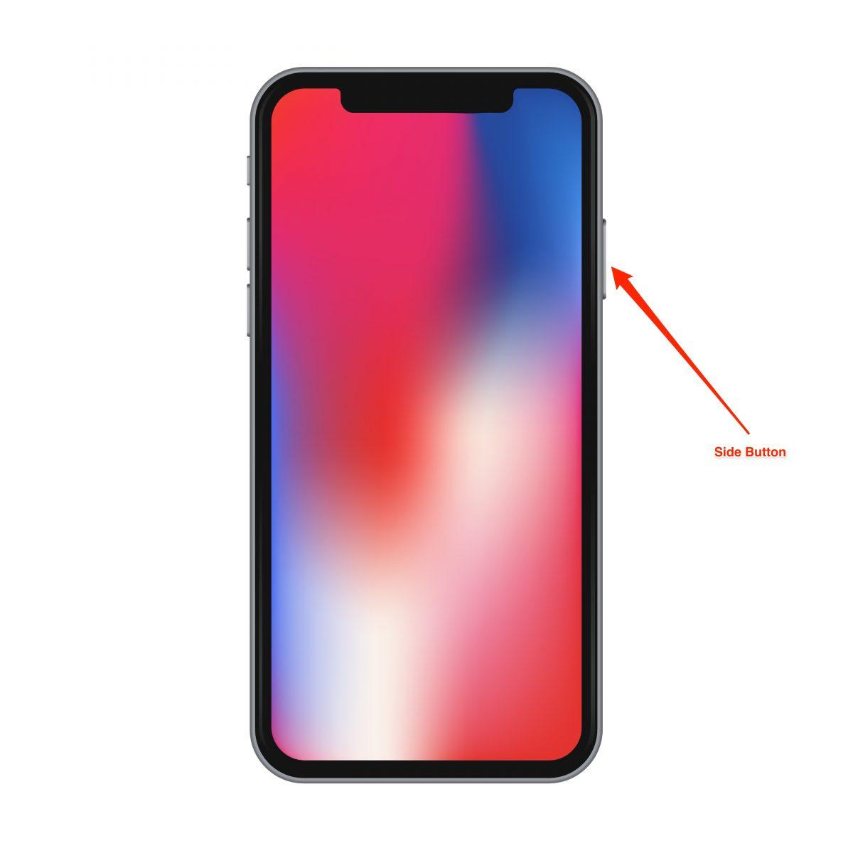 hard reboot the iphone x - step 3