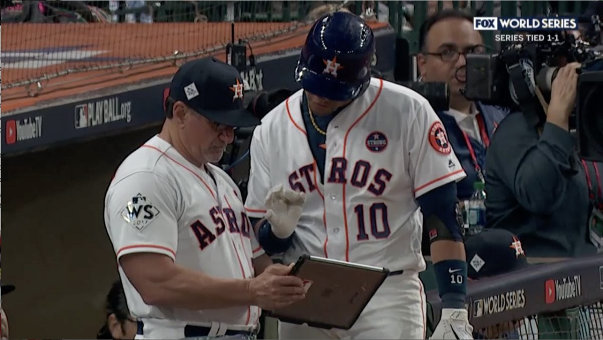 The Astros used Blast Baseball with an iPad Pro during the 2017 World Series.