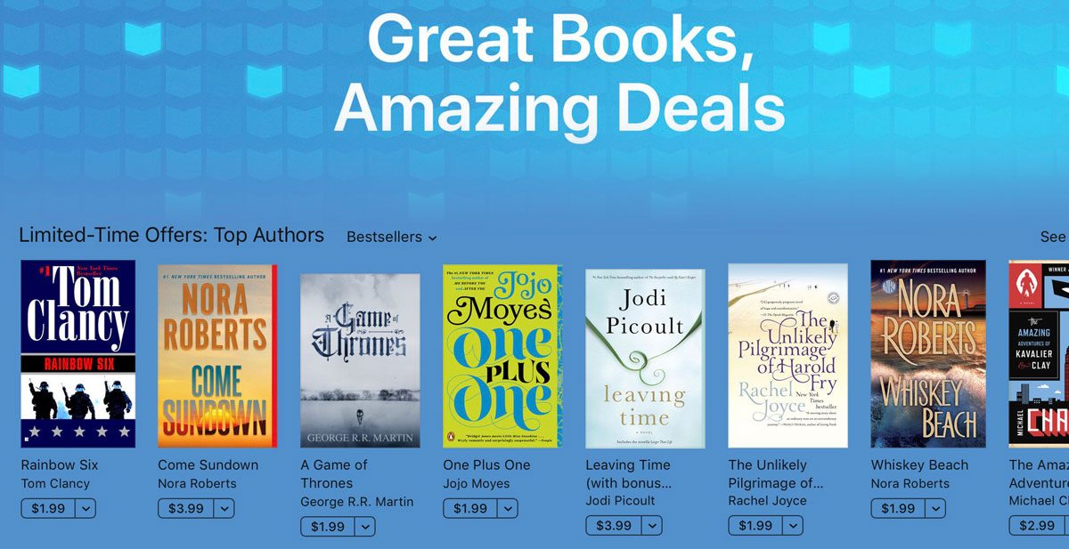 "iBooks ""Great Books, Amazing Deals"" Sale"