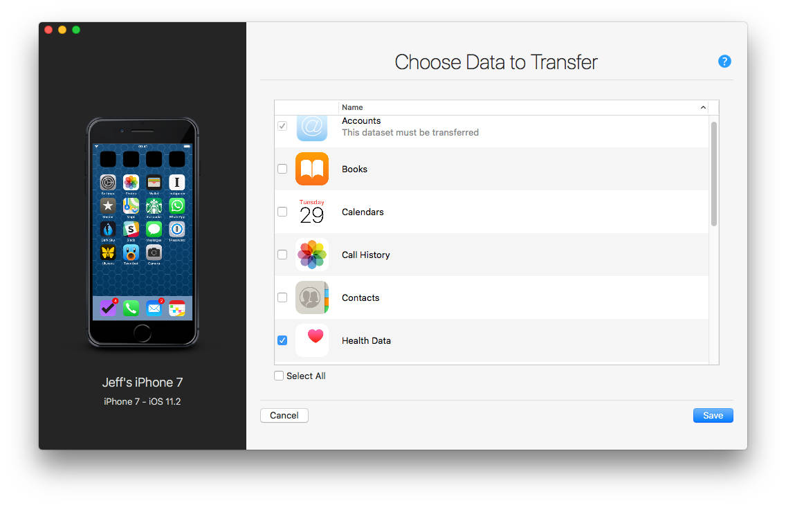 iMazing lets you selectively transfer data to a new iPhone