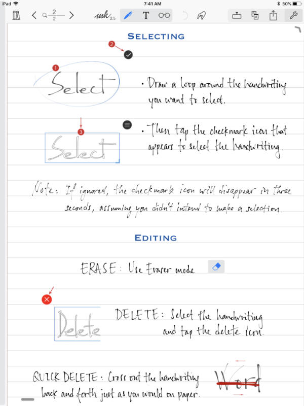 Notes Plus on iPad Pro