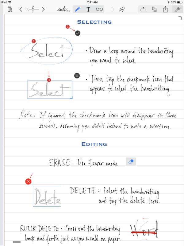 Notes Plus on iPad Pro
