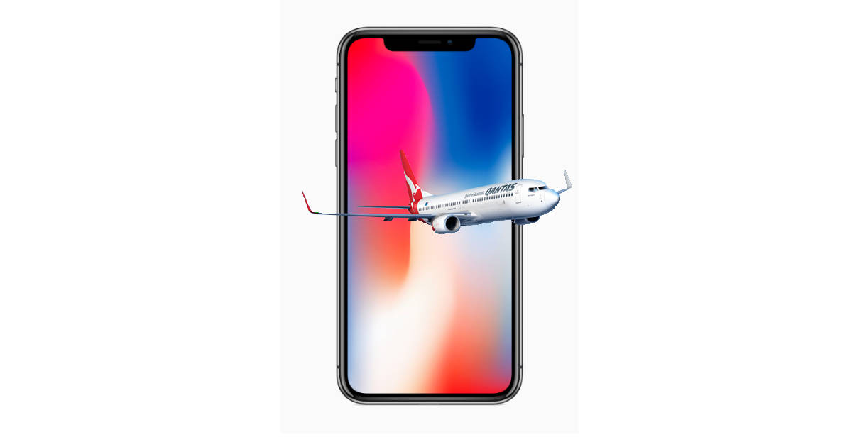 iPhone and airplane
