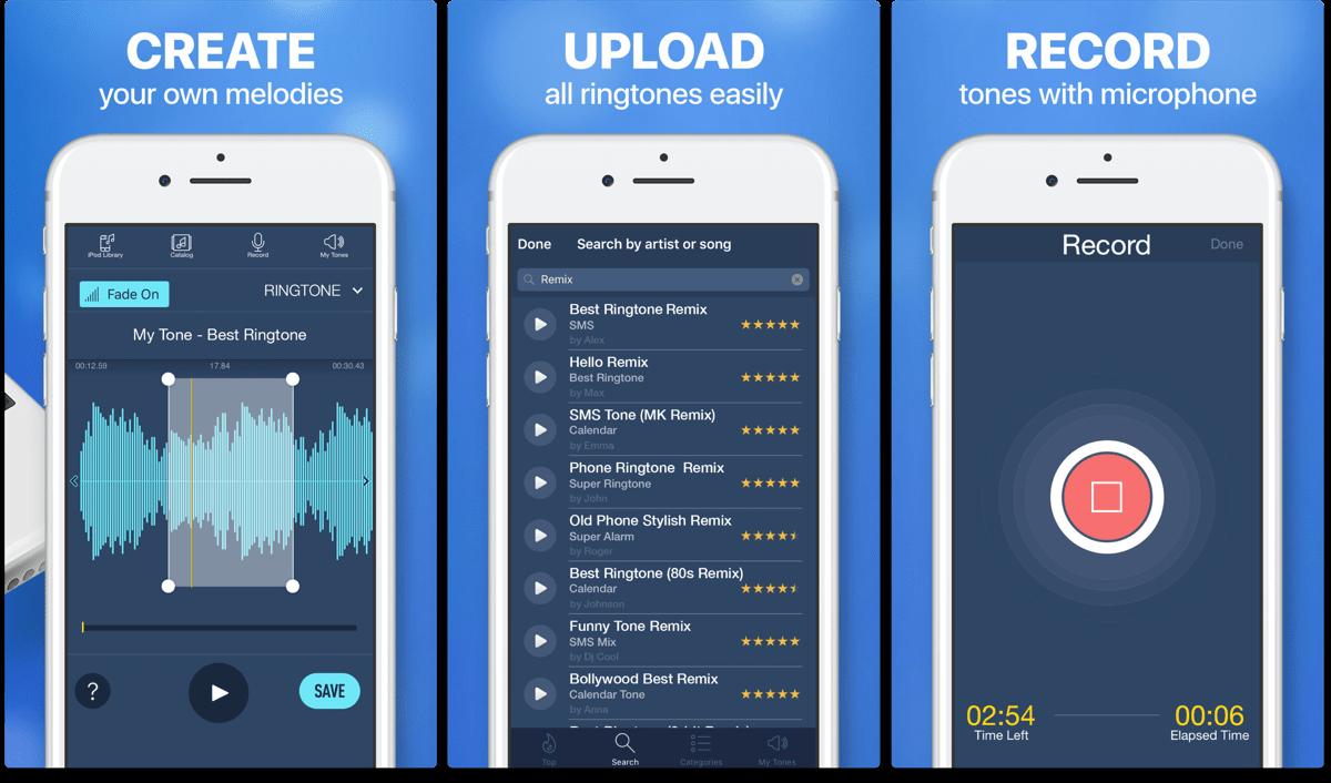 iPhone ringtones maker app.