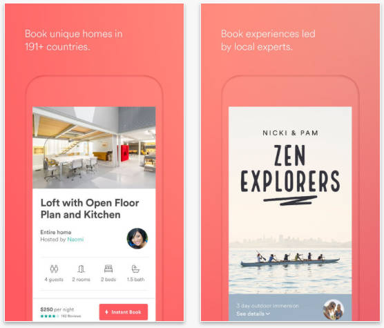 Airbnb on iPhone