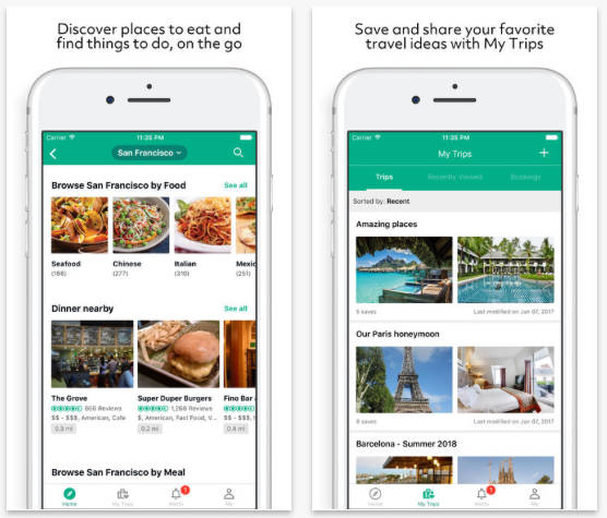 TripAdvisor on iPhone