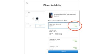 iPhone X available in Apple retail stores