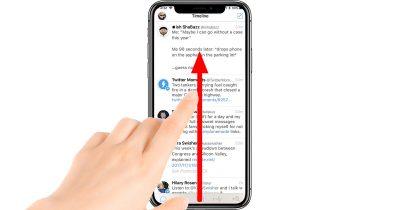 iPhone X swipe up gesture returns to the Home screen