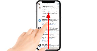 iPhone X swipe up gesture returns to the Home screen