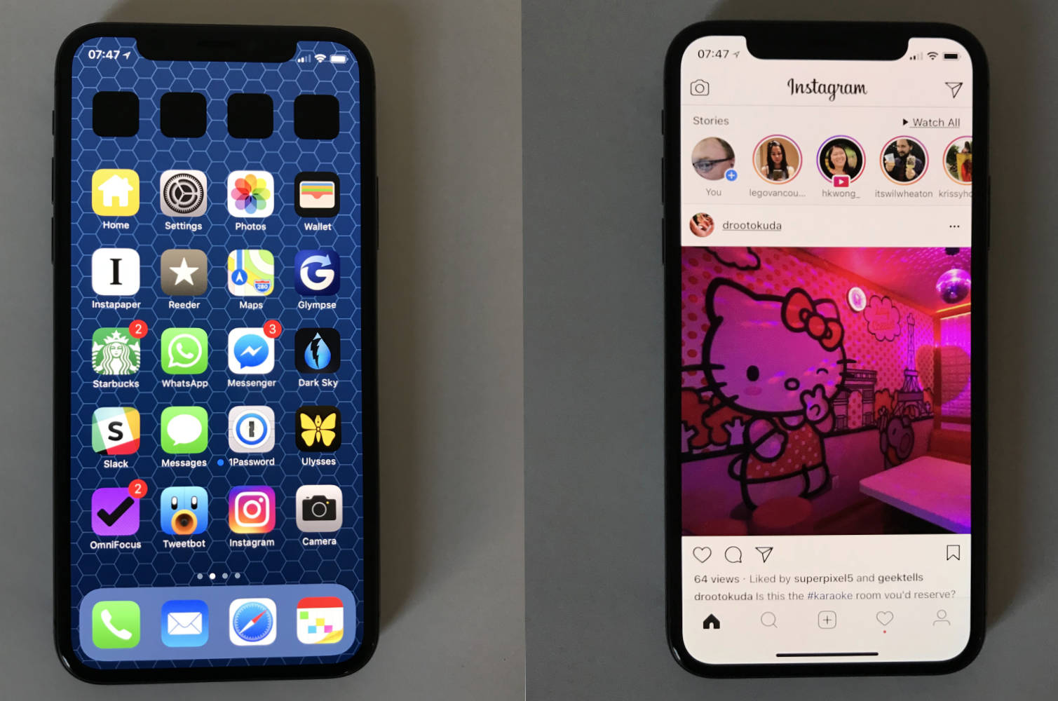 iPhone X Home screen notch
