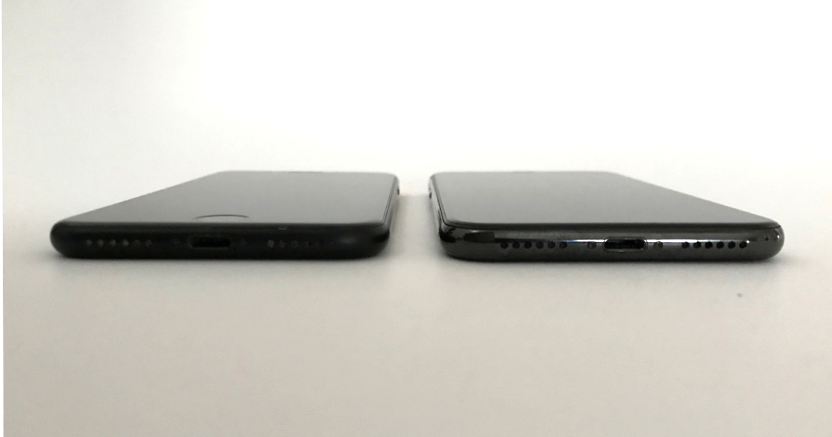 iPhone 7 and iPhone X edge comparison
