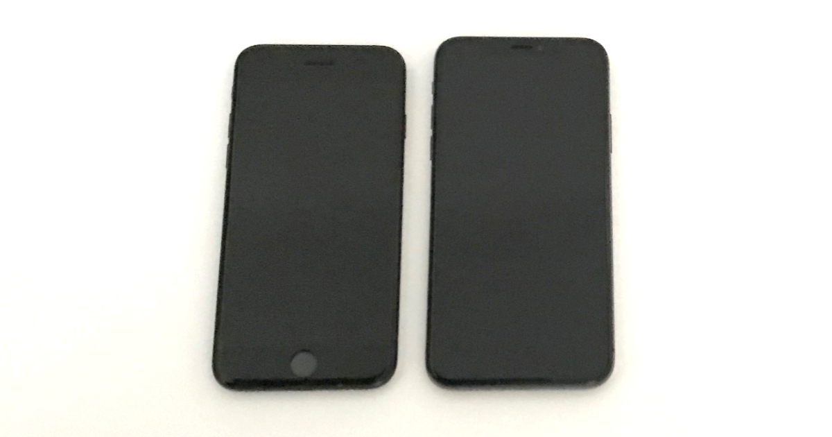 iPhone X size comparison with iPhone 7