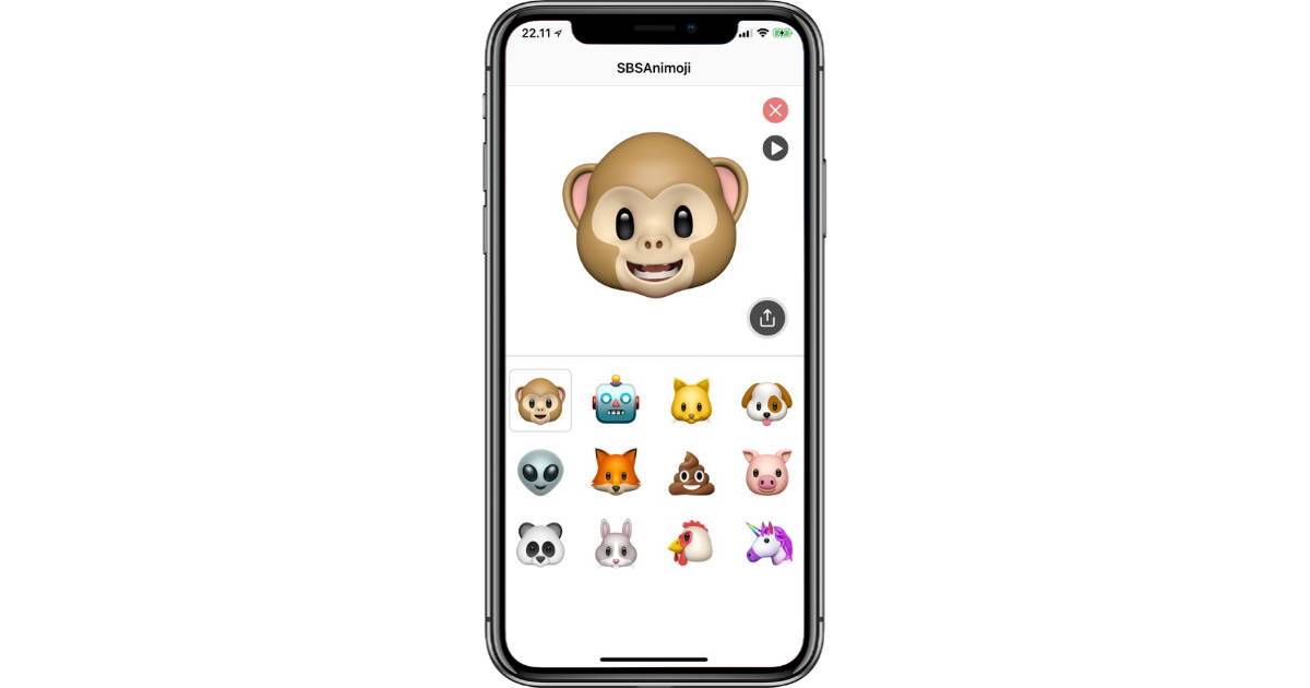 Double Animoji Recording Length with SBSAnimoji