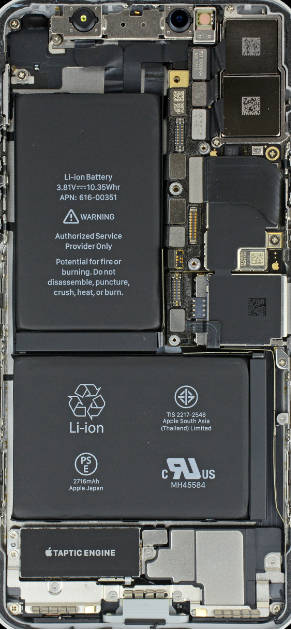 iPhone X internal wallpaper from iFixit