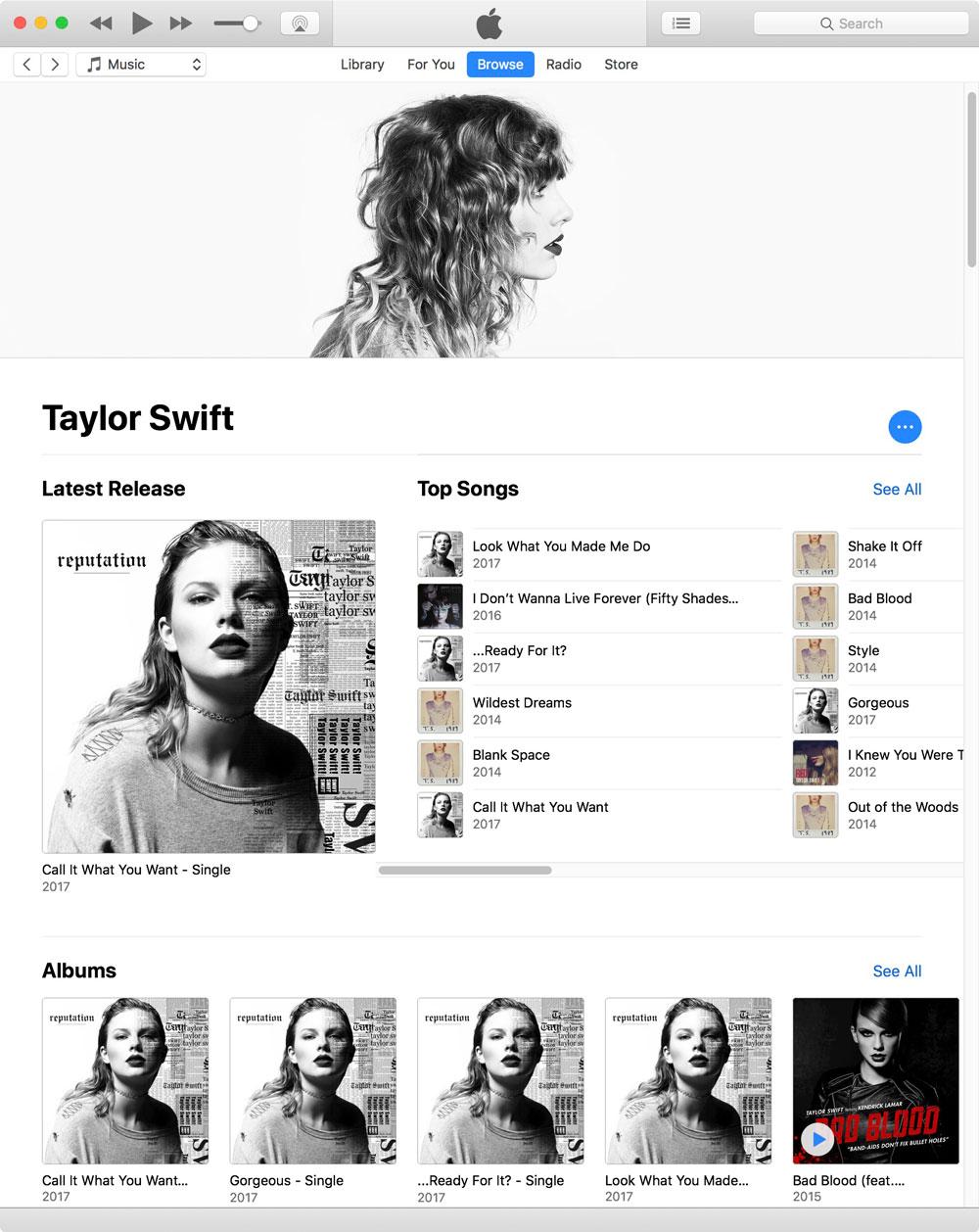 Taylor Swift on Apple Music