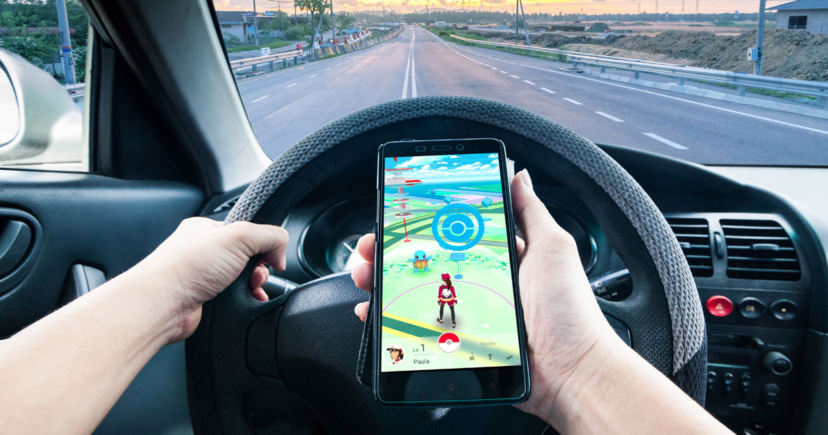 Don't do this: playing Pokémon GO while driving
