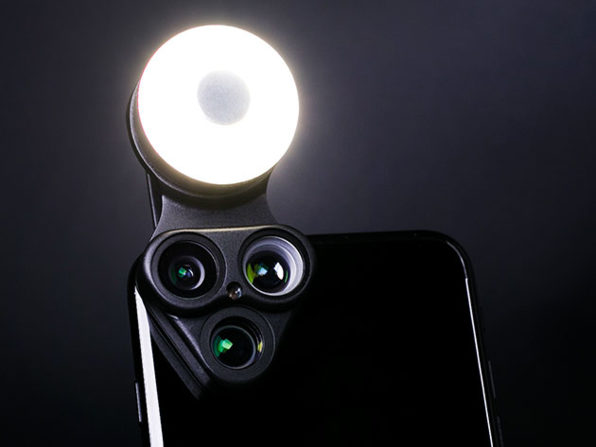 RevolCam Has 3 Lenses, a Light, and a Selfie Mirror for your iPhone: $34.99