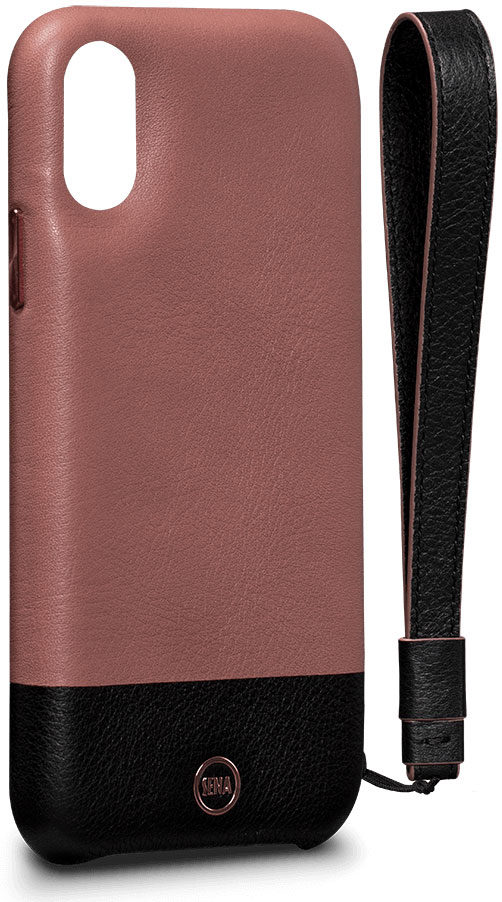 Sena Arri Wristlet Leather Snap On Case for iPhone X