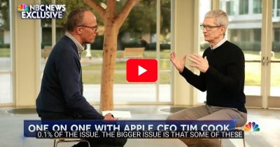 Tim Cook on NBC with Lester Holt