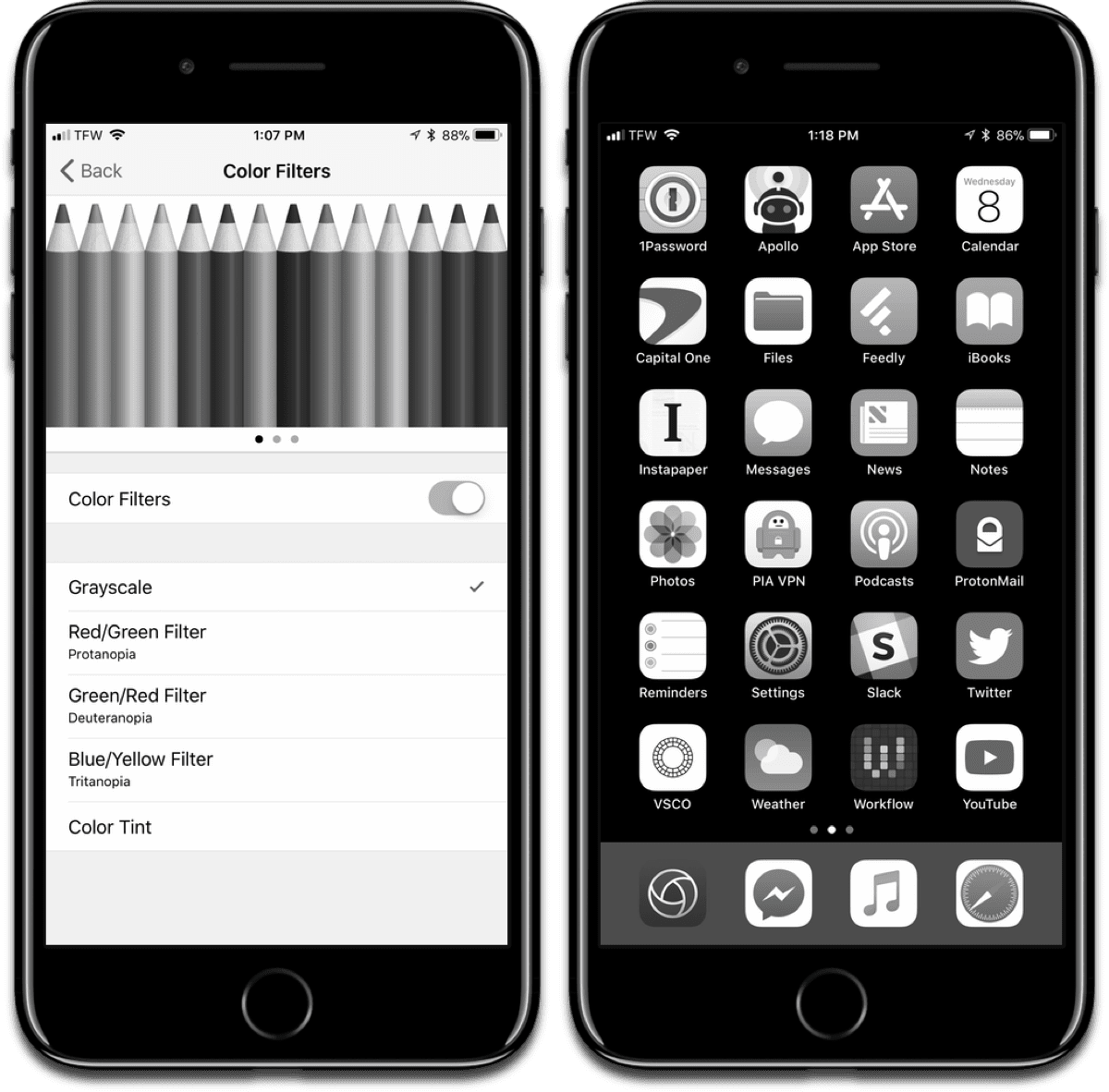 Turning on Gray Scale, and the final result for ultra low power mode.