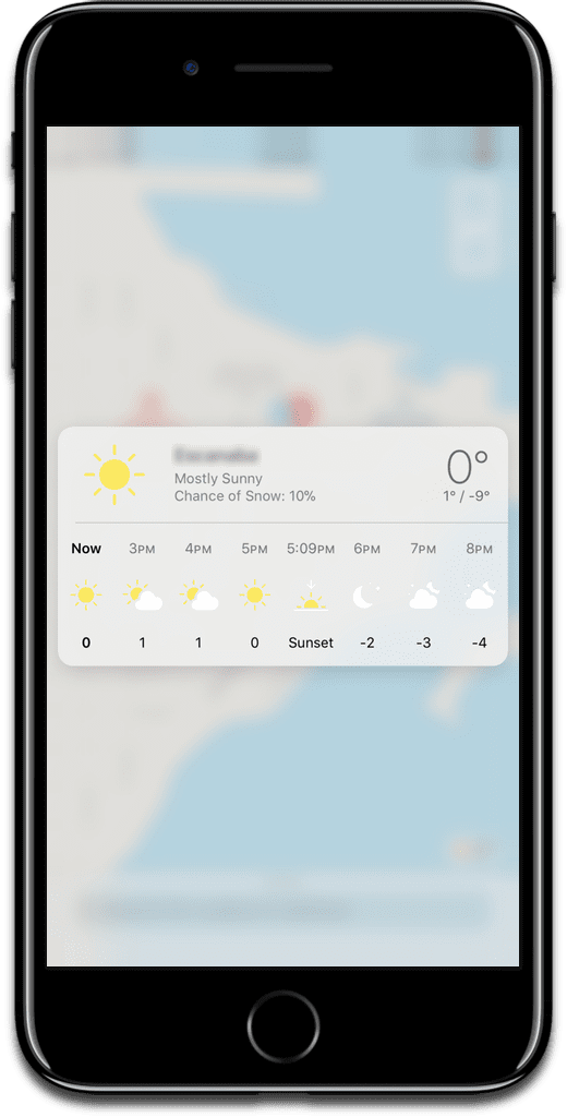 3D Touch Apple Maps weather trick.