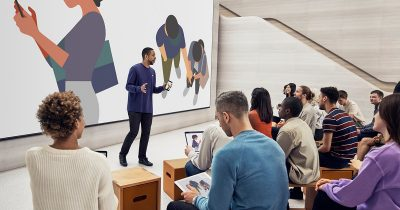 Image of a Today at Apple event.