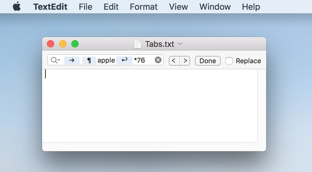 Complicated Pattern Searching in TextEdit lets you find and replace or remove content in documents