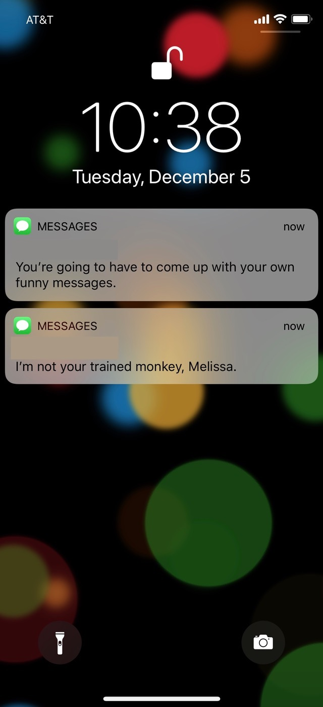 Text Messages showing iMessage syncing is working correctly on iPhone