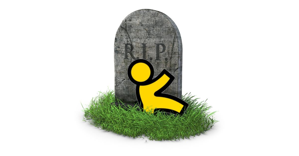 AOL Instant Messenger shut down on December 15th 2017