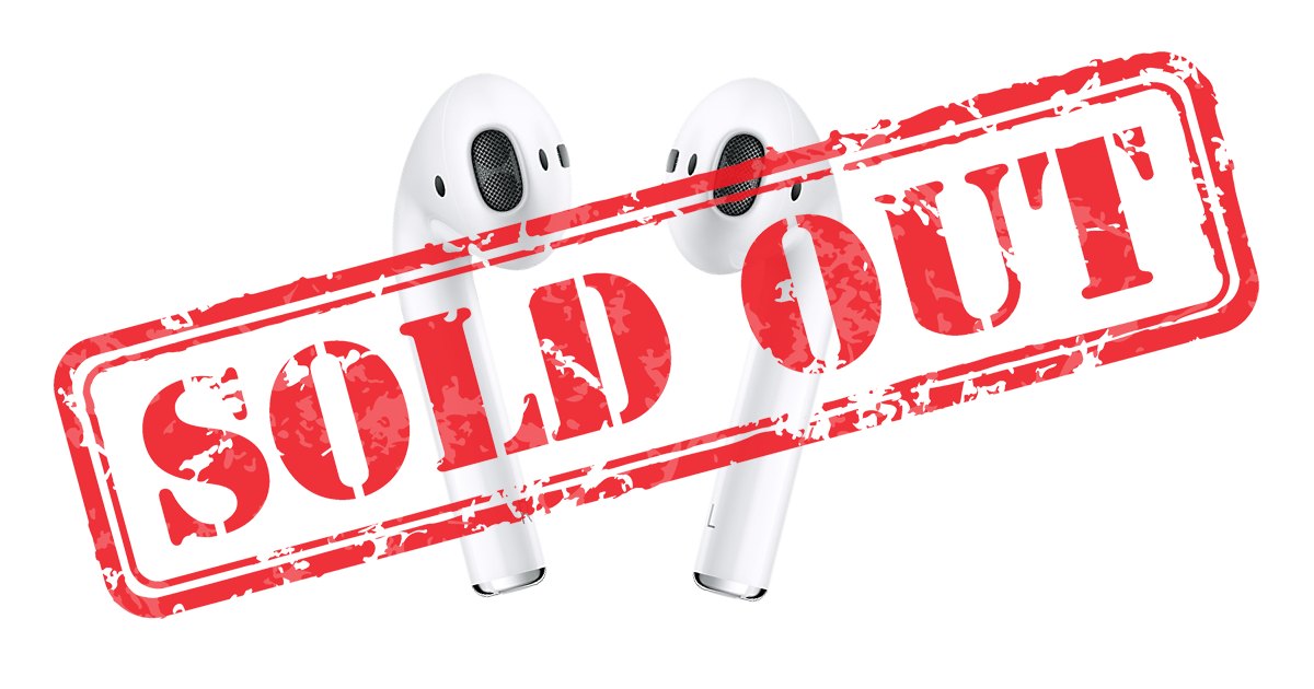 Apple's AirPods sold out until January 2018