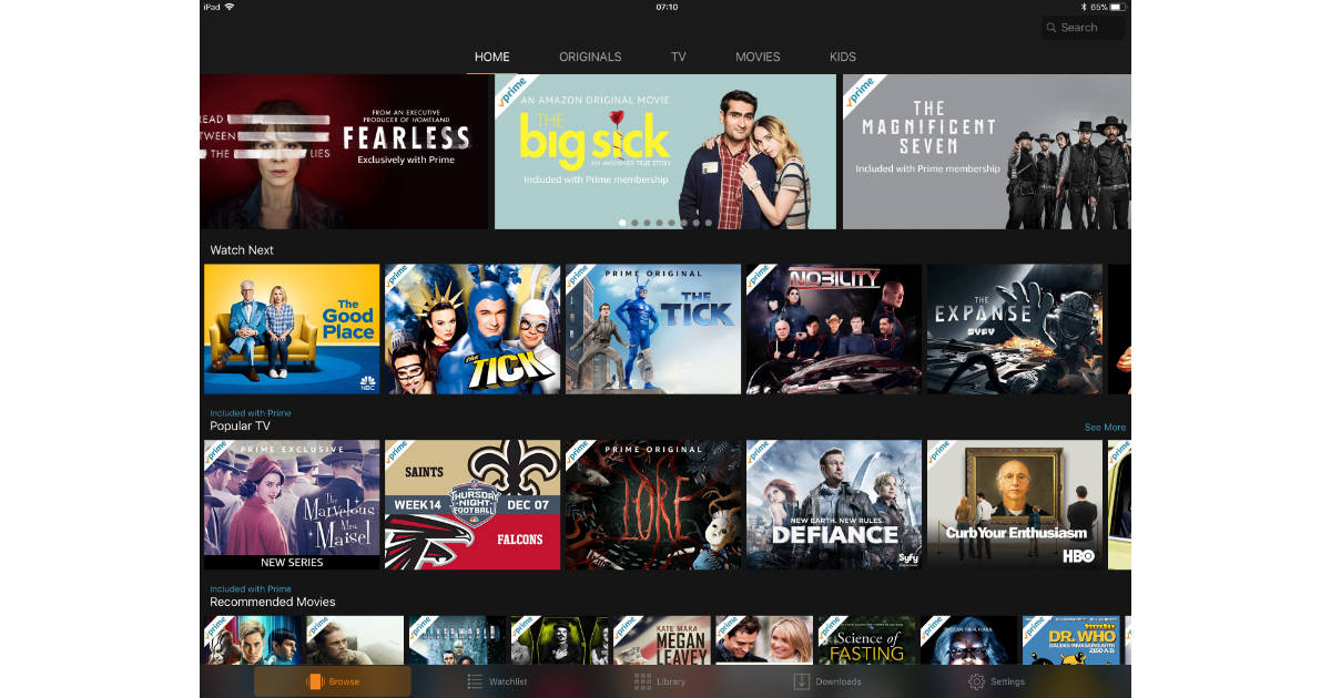 watch amazon prime on iphone prime most downloaded apple tv app the 9676
