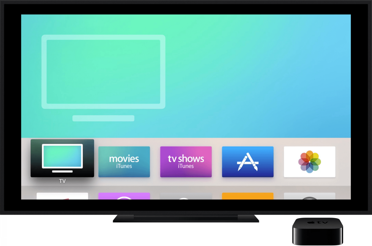 The Apple TV app on the Apple TV.