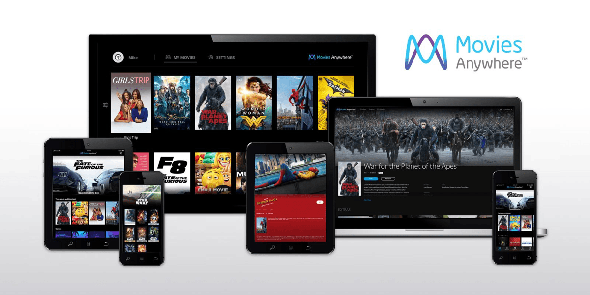 apple TV video streaming apps movies anywhere