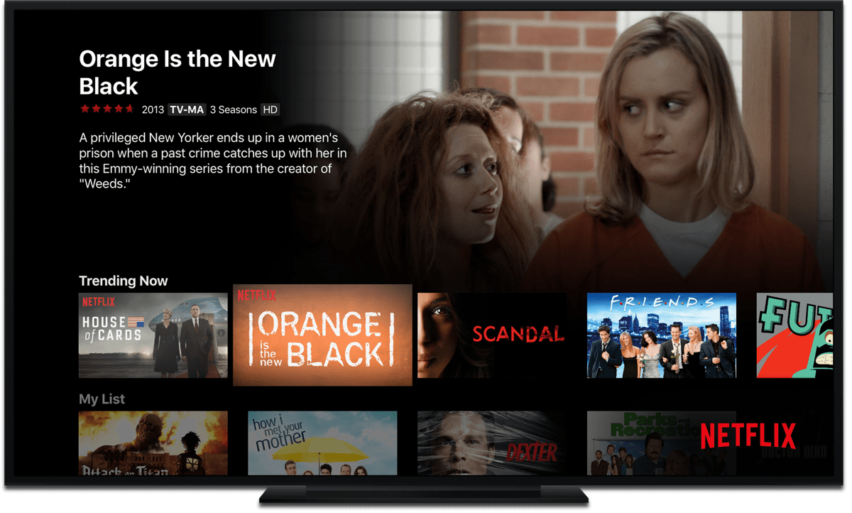 apple TV video streaming apps netflix