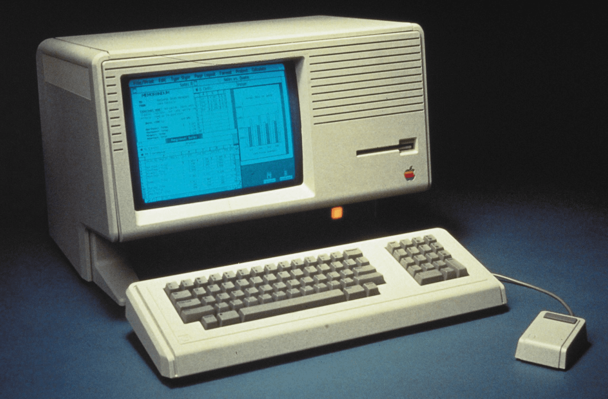 Image of the Apple Lisa computer.