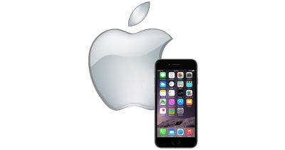 Apple logo and iPhone 6