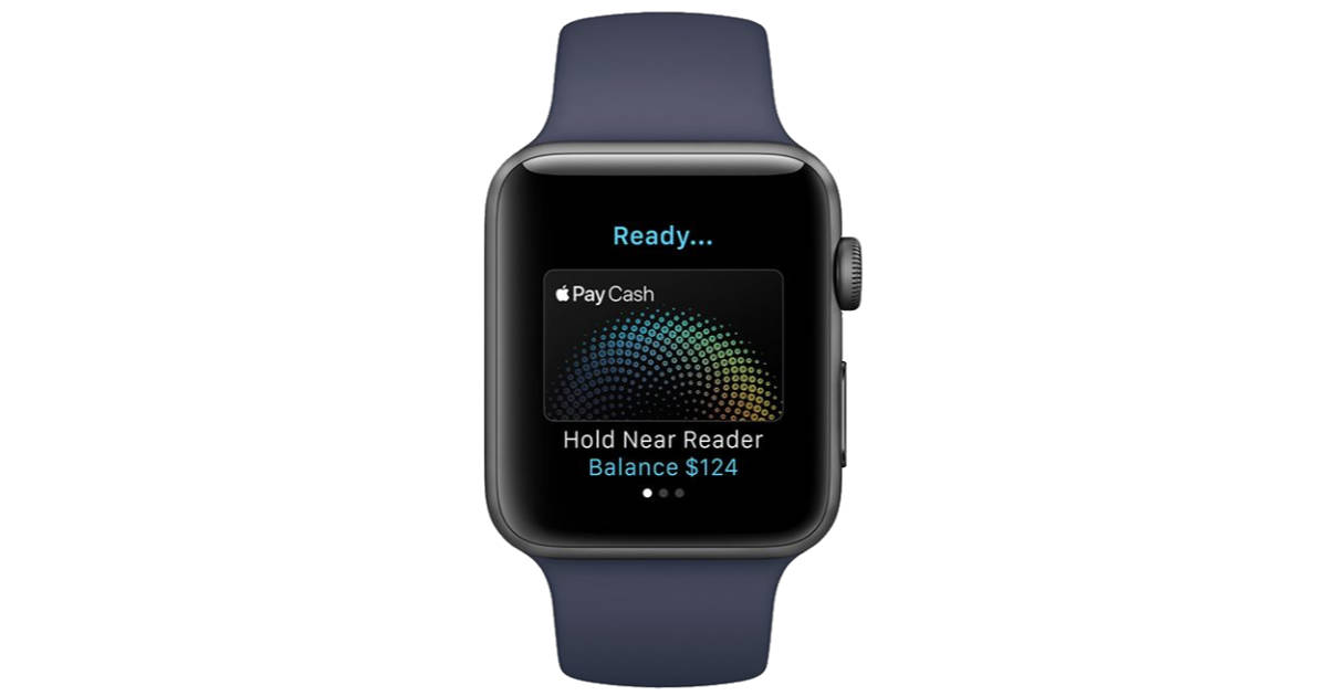 Apple Pay Cash on Apple Watch running watchOS 4.2