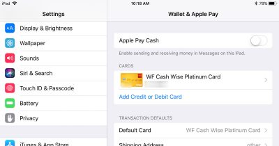 Apple Pay Cash Toggle Now Available
