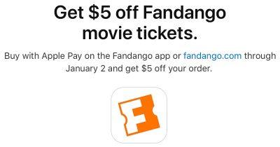 Apple Pay Promo with Fandango