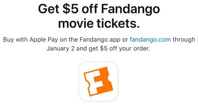Apple Pay Promo with Fandango