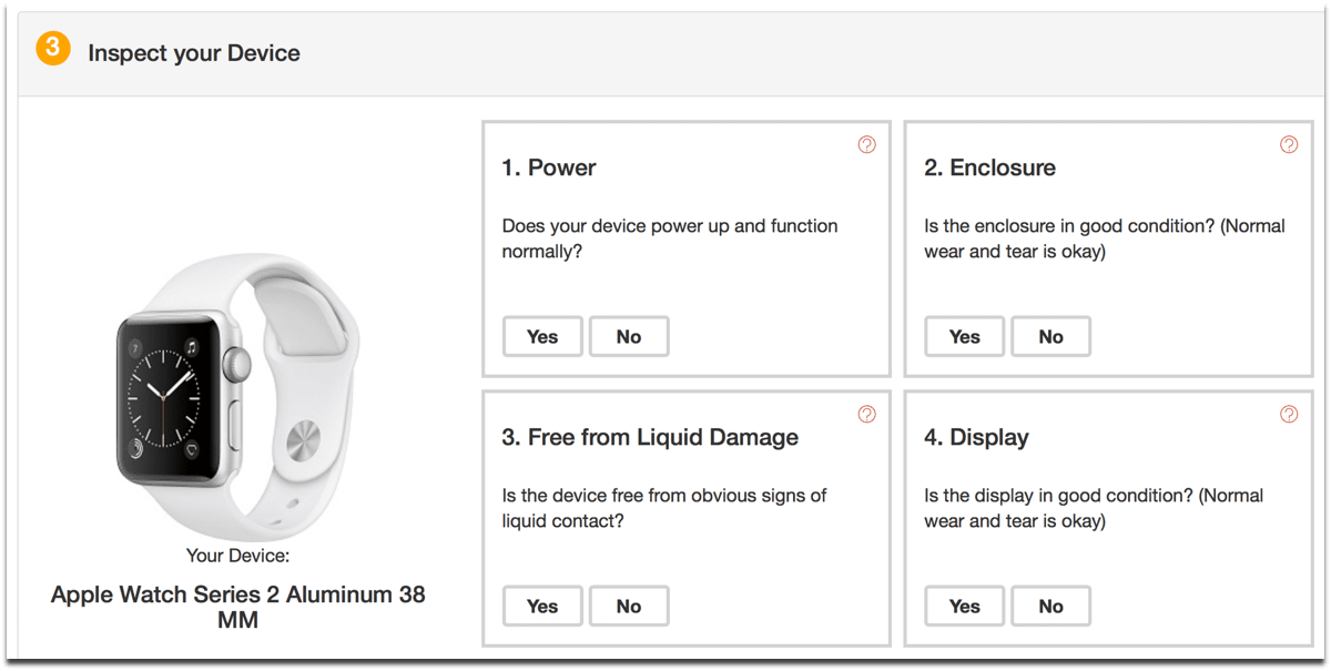 Select the condition to recycle Apple Watches.