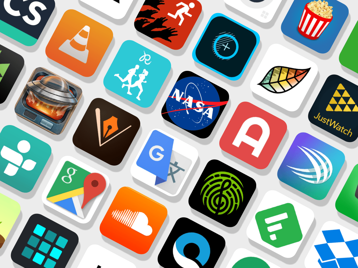Image of various app icons. Apple will waive the iOS developer fee for government and nonprofit app developers.