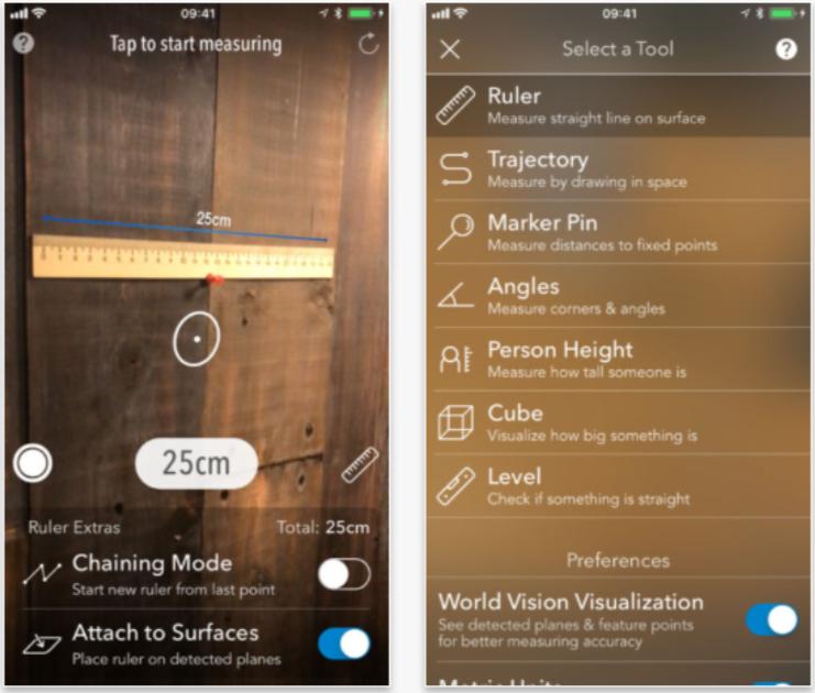 AR MeasureKit for iPhone