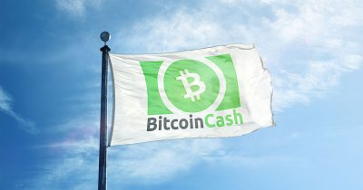 Bitcoin Cash on a flag