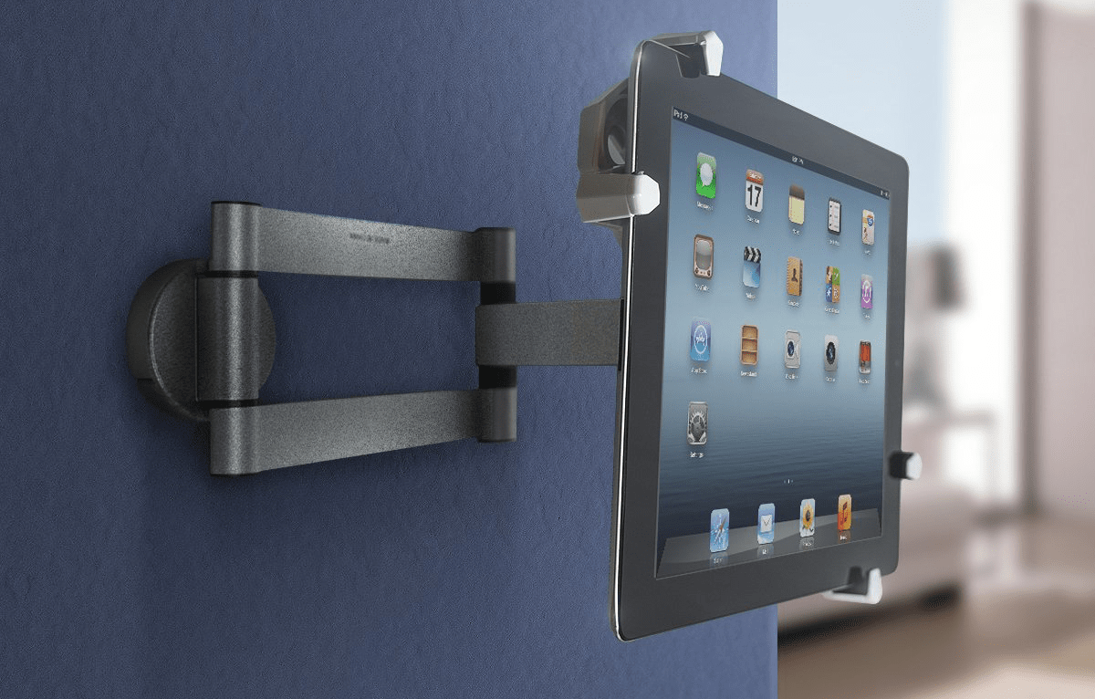 Image of iPad mount to use as an iOS security camera.