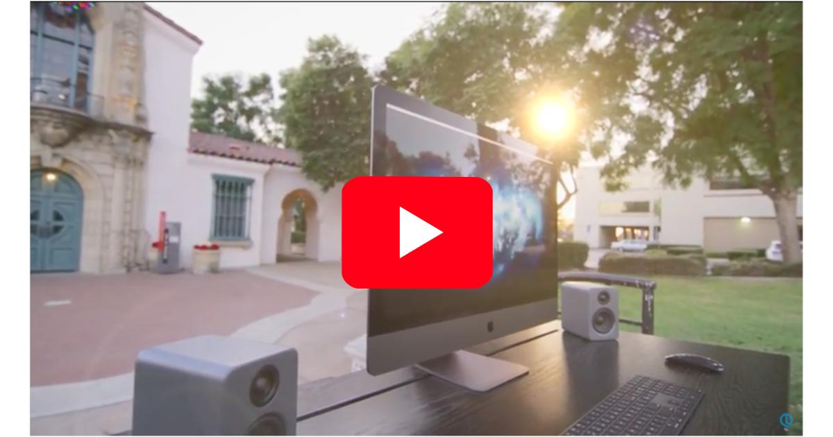 Jonathan Morrison iMac Pro setup