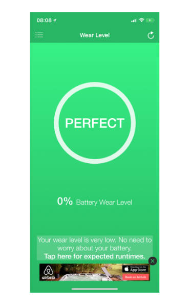 Battery Life app for iPhone